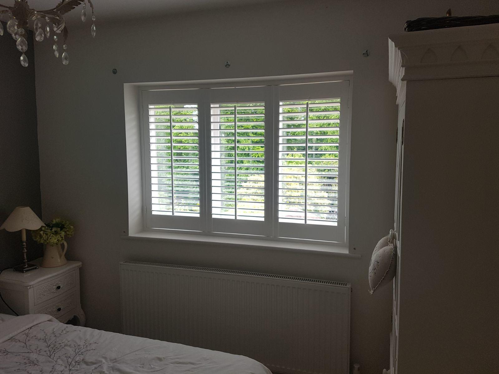 Vintage Bedroom Fitted With Our Plantation Shutters